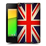 Head Case Designs Great Britain British Vintage Flags Protective Snap-on Hard Back Case Cover for Asus Google Nexus 7 2013 WiFi
