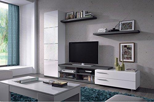 HABITMOBEL - Mueble de salón comedor moderno, medidas: 180X240X41 cm de alto