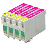 4 Compatible Light Magenta Printer Ink Cartridges to replace T0806 for use in Epson Stylus Photo P50, PX650, PX660, PX700W, PX710W, PX720WD, PX800FW, PX810FW, R265, R285, R360, RX560, RX585, RX685