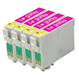 4 Compatible Light Magenta Printer Ink Cartridges to replace T0796 for use in Epson Stylus Photo 1400 & 1410