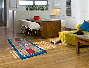 Los Angeles Clippers LA Large Court Runner Area Rug by Fanmats