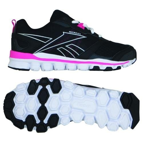 reebok-womens-hex-affect-run-running-shoes-black-white-pink-size-5