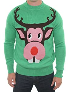 Ugly Christmas Sweater - Bucktooth Rudolf Sweater by Tipsy Elves