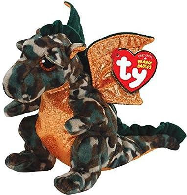 Ty Beanie Babies Razor The Camo Dragon Plush from Ty