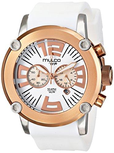 Mulco MW2Hombre, 6263-016-Analógico Pantalla Color Blanco De Cuarzo Japonés Reloj
