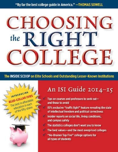 read online choosing the right college 201415 the