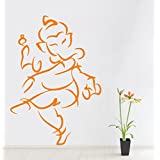 Decal Style Ganesha Wall Sticker Small Size- 18*24 Inch Color - Black