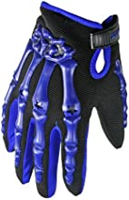 Hand Bone Skeleton Motorcycle Motorbike Racing Full Gloves M Blue