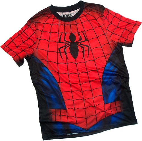 Costume -- Spider-Man All-Over Front/Back Print Sports Fabric T-Shirt