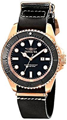 Invicta Men's 17582 Pro Diver Analog Display Japanese Quartz Black Watch