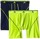 adidas Mens Sport Performance Climalite Boxer Brief, Two-Pack