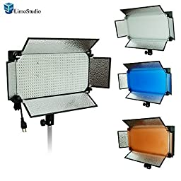 LimoStudio 600 LED Photo Video Light Barndoor Panel with Color Gel Filter , AGG1449