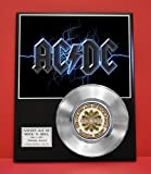 Ac/Dc Platinum Record LTD Edition Award Quality Plaque