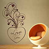 Decal Style Love Swirl Wall Sticker Large Size-23*41 Inch - B00WSNIQDK