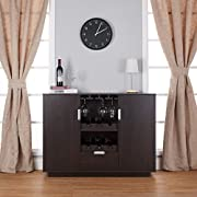 Furniture of America Mendocino Wine Cabinet Buffet, Espresso