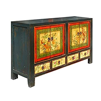 China Multi-color Graphic Cabinet Side Table Buffet Drawer Storage Amh292