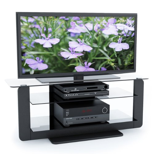 Cheap Sonax T-201-TAT Atlantic 52 Inch Midnight Black TV Stand with Glass Shelves (T-201-TAT)
