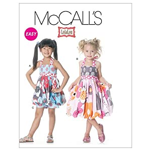 McCall's Patterns M6271 Children's/Girls' Top, Dress and Shorts