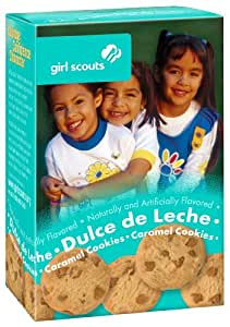 Girl Scout Cookies * Dulce de Leche * Caramel Cookies with Caramel Chips - 1 Box of 22 Cookies