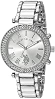 U.S. Polo Assn. Women's Quartz Silver-Toned Dress Watch (Model: USC40172)
