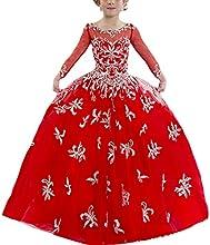 Hanayome Elegant Floor length Red Flower girl dresses R90