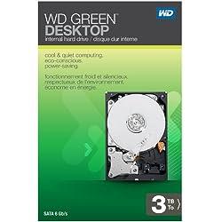 WD Green Desktop 3TB SATA 6.0 GB/s 3.5-Inch Internal Desktop Hard Drive Retail Kit
