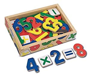 Melissa & Doug Magnetic Wooden Numbers