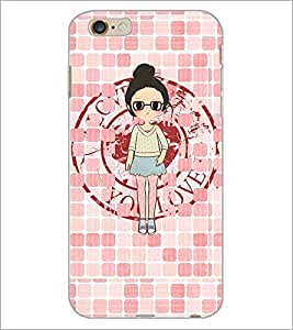 PrintDhaba Girl with spectacles D-4065 Back Case Cover for APPLE IPHONE 6S (Multi-Coloured)