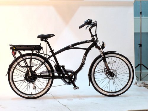 EG Oahu 500 EX Beach Cruiser Electric Bicycle - Black