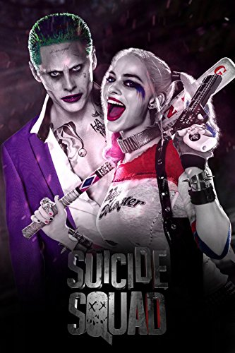 "Suicide Squad Harley Quinn Joker Movie Fabric Cloth Rolled Wall Poster Print -- Size: (36"" x 24"" / 20"" x 13"")"