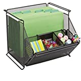 Safco Products Onyx Mesh Stackable Storage Bins, Black, 2164BL