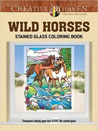 Creative Haven Wild Horses Stained Glass Coloring Book (Adult Coloring)