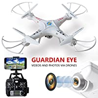 Younway 901C FPV Drone 2.4Ghz 4CH 6-Axis Gyro RC Quadcopter Drone with 2MP HD Wifi Camera, Return Home and Headless Mode (White)