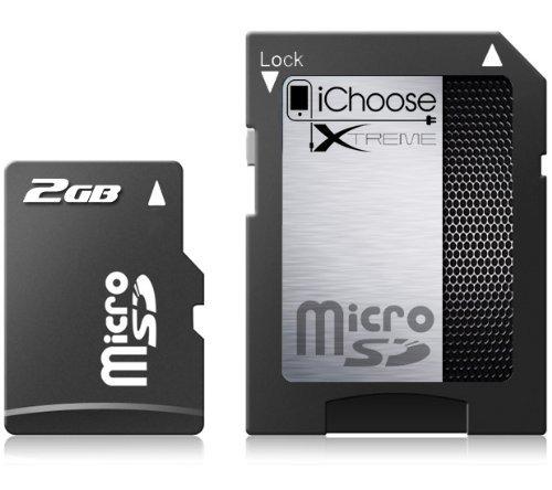 iChoose Xtreme Carte mémoire micro SDHC avec adaptateur 32 Go 4Mbs 2 go