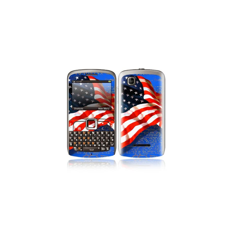 Flag of Honor Design Decorative Skin Cover Decal Sticker for Motorola EX115 Cell Phone
