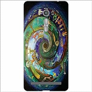 Asus ZenFone 2 Laser ZE550KL Back Cover - Silicon Circle Designer Cases