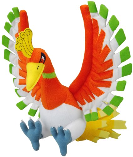 "Official Nintendo Pokemon Diamond & Pearl Plush Toy - 11"" Ho-Oh (Japanese Import)"