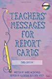 img - for Teachers' Messages for Report Cards, Grades K - 8 book / textbook / text book