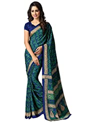 AG Lifestyle Women's Silk Saree(SD105, Blue & Green)