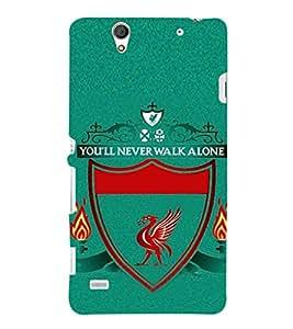 EPICCASE Football case Mobile Back Case Cover For Sony Xperia C4 (Designer Case)