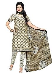 RK Fashion Beige Colour Cotton Unstitched Dress Material (CHANDANI1045-Beige-Free Size)