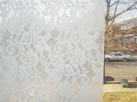Lace Window Film Contact Paper. bathroom window curtains  Lace Window Film Contact Paper