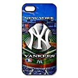 Creative MLB New York Yankees Logo Yankee Stadium Design Snap on Apple iPhone 5/5s Durable Case Cover