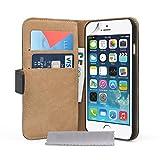 Caseflex iPhone 6 Case Black Split Leather Wallet Cover