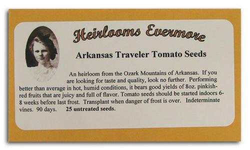 Heirlooms Evermore Arkansas Traveler Tomato Seeds (Pack of 10)