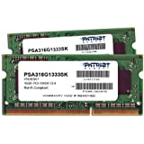 Patriot Mac Series 16GB Apple SODIMM Kit (2X8GB) DDR3 1333 PC3 10600 204-Pin SO-DIMM PSA316G1333SK