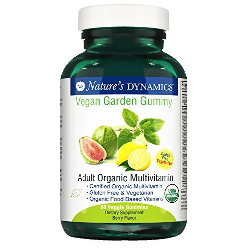 Natures Dynamics Vegan Garden Gummy Adult Organic Multivitamin, 60 Count (Natural Dynamics compare prices)