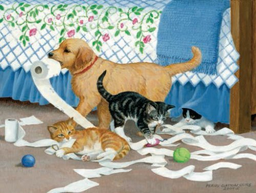 Cheap SunsOut Mischief! 500 Piece Puppy and Kittens Jigsaw Puzzle By Sunsout (B001QJ1GRA)