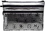 Mah Jongg Silver 3 Zipper Mah Jong Purse for Mahjong Card