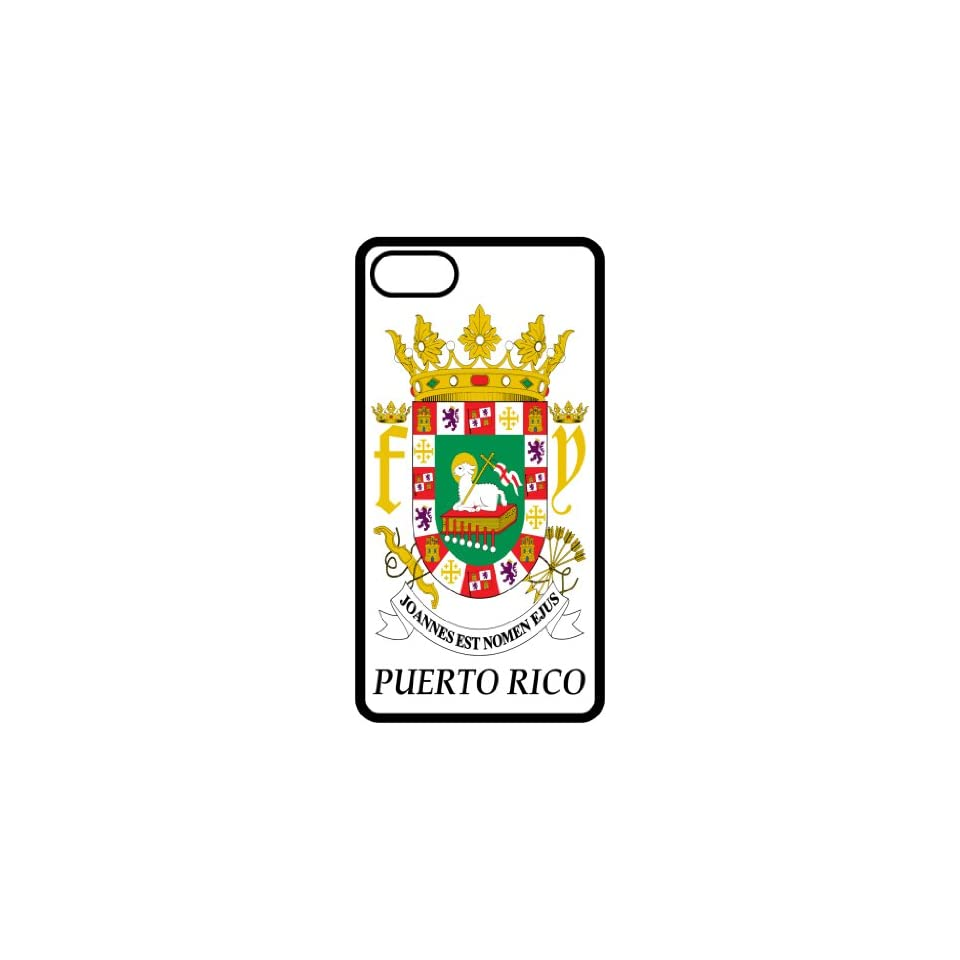 Puerto Rico   Coat Of Arms Flag Emblem Black Apple Iphone 4   Iphone 4s Cell Phone Case   Cover